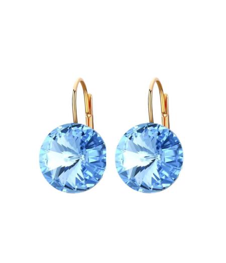 Sinised Swarovski kristalliga kõrvarõngad