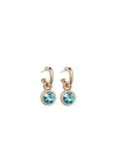 Helesinise kristalliga klassikalised kõrvarõngad