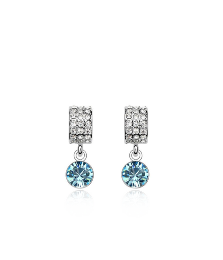 Sinise swarovski kristalliga kõrvarõngad