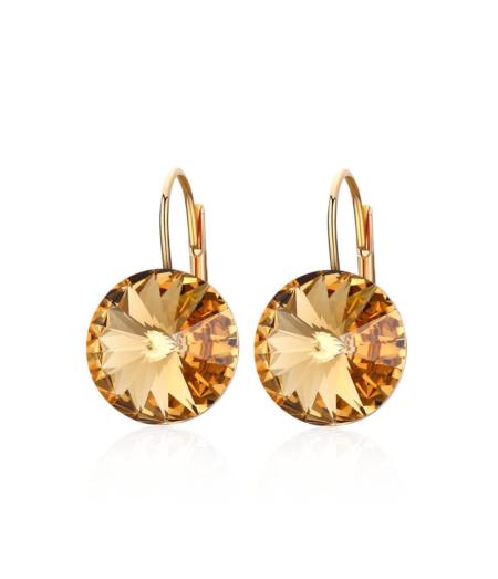 Kollased Swarovski kristalliga kõrvarõngad