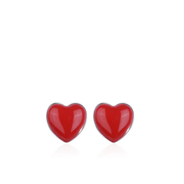 Väikese punase südamega kõrvarõngad