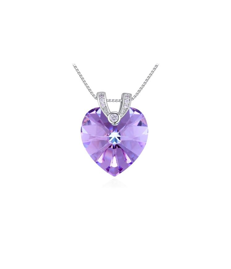 Violetse südamega kaunis kaelakee