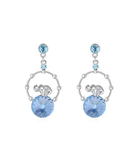 Elevandi ja Swarovski kristalliga kõrvarõngad