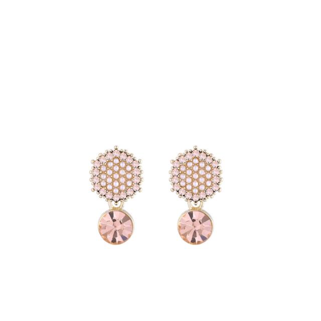 Rippuva kristalli ja pärlitega kõrvarõngad