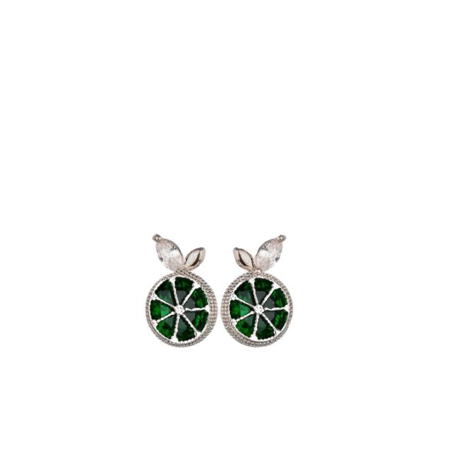 Rohelised sidruniga kõrvarõngad