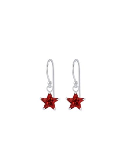 Punased tähega laste kõrvarõngad