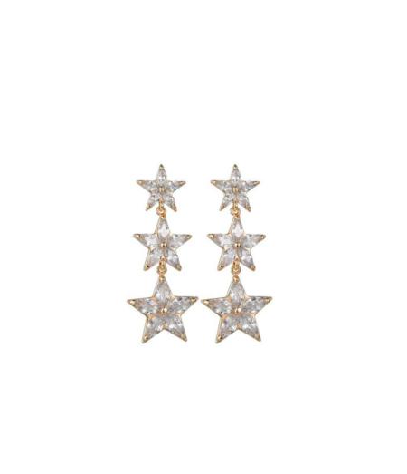 Tähtedega rippuvad kõrvarõngad