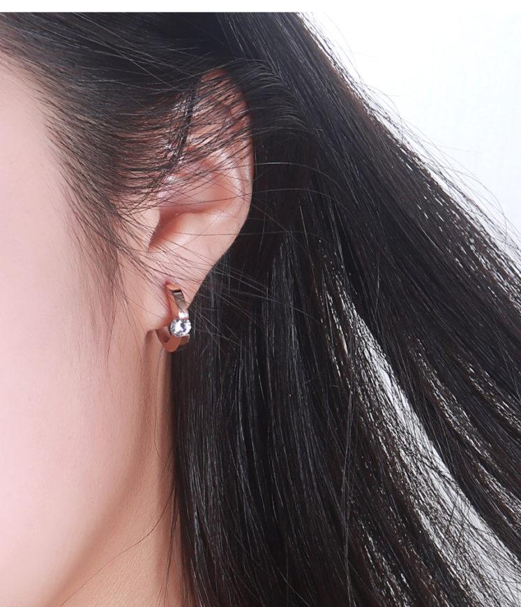 Väikse kiviga kõrvarõngad