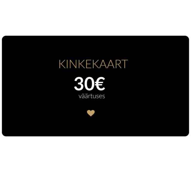 30€ kinkekaart