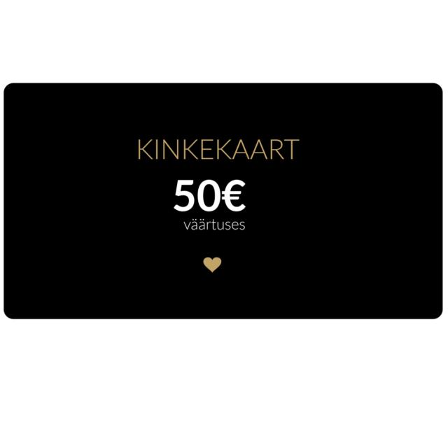 50€ kinkekaart