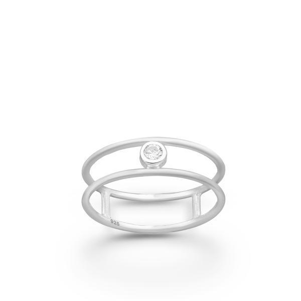 Minimalistlik kihlasõrmus 925 hõbedast