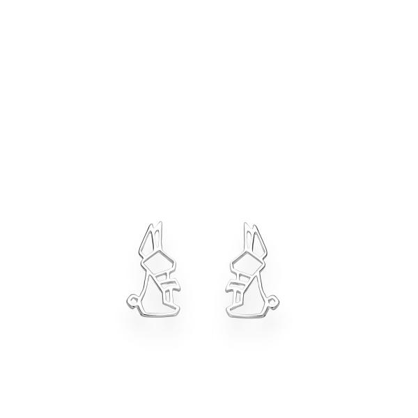 Jänese motiiviga kõrvarõngad 925 hõbedast