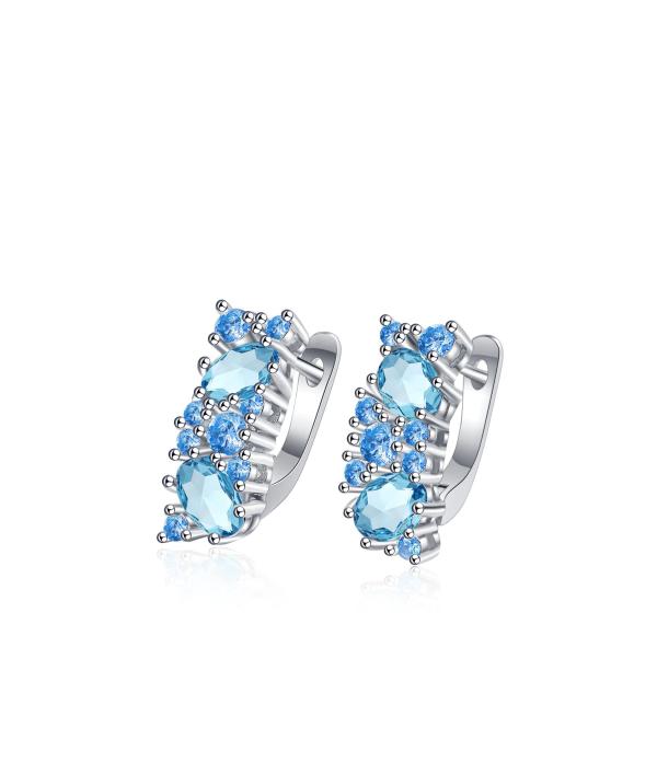 Helesiniste kristallidega kõrvarõngad