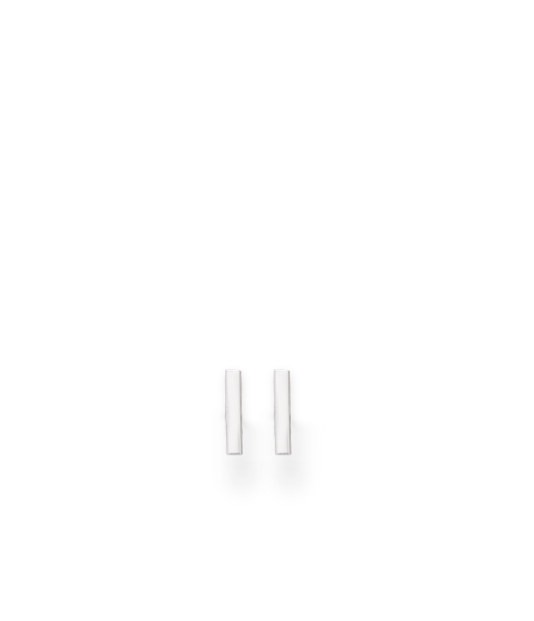 Väikesed ristkülikukujulised 925 hõbedast kõrvarõngad