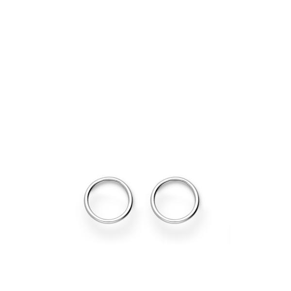 Katkematu ringi sümboliga 925 hõbedast kõrvarõngad