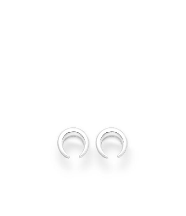 Poolkuu sümboliga 925 hõbedast kõrvarõngad