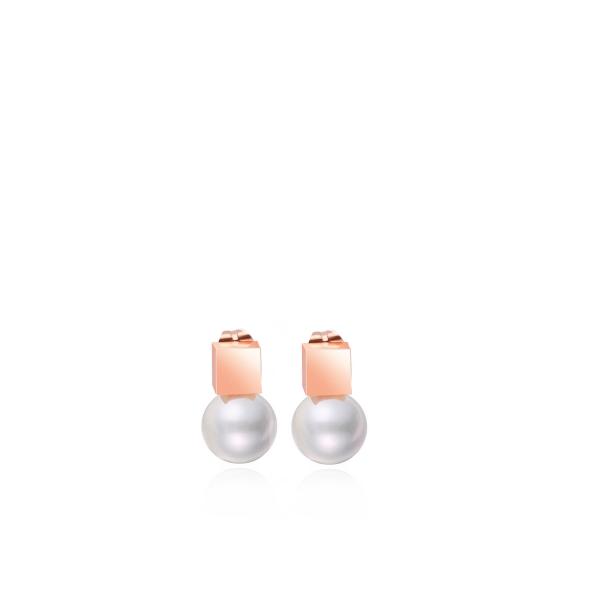 Minimalistlikud pärliga kõrvarõngad