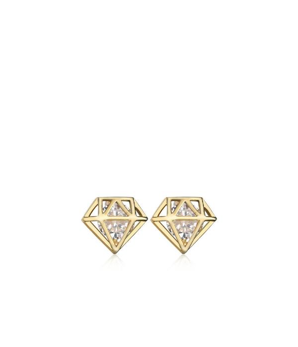 Teemanti motiiviga kõrvarõngad
