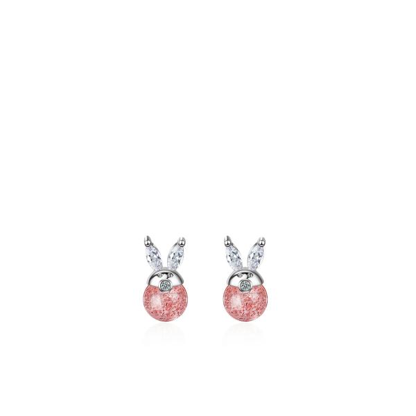 Ümmargused roosad kõrvarõngad