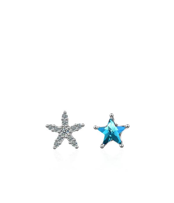 Sinise meritähega kõrvarõngad