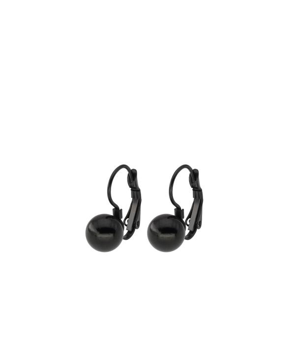 Musta kuulikesega kõrvarõngad