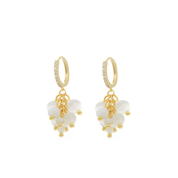 Elegantsed opaalpärlitega kõrvarõngad